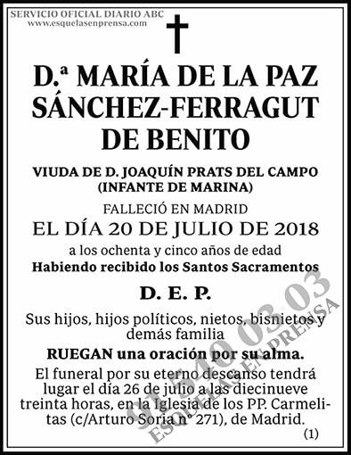 María de la Paz Sánchez-Ferragut de Benito